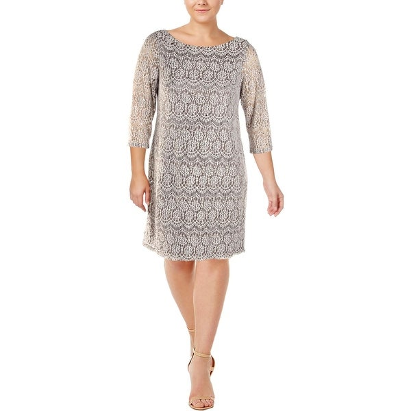 f983bc9e3d61 Shop Jessica Howard Womens Party Dress Lace 3/4 Sleeve - Free Shipping On  Orders Over $45 - Overstock - 25717122