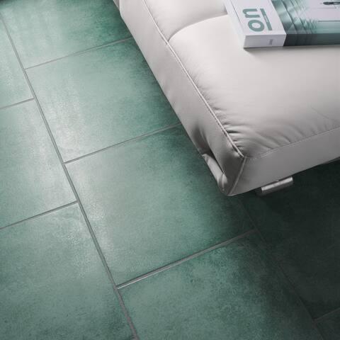 "SomerTile Simbols Riu 14.13"" x 14.13"" Porcelain Floor and Wall Tile"
