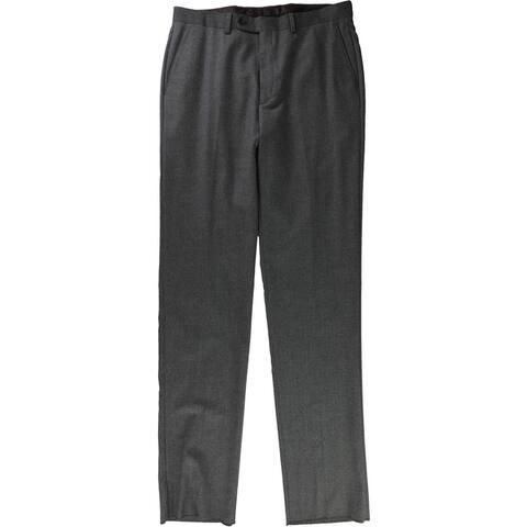 Tags Weekly Mens Flannel Dress Pants Slacks, Grey, 33W x UnfinishedL - 33W x UnfinishedL