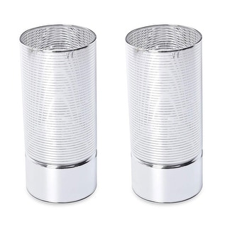 Link to Lighting Home Decor Set of 2 Silver LED Rotating Ball Cylinder Light 3xAAA Battery Similar Items in Decorative Accessories