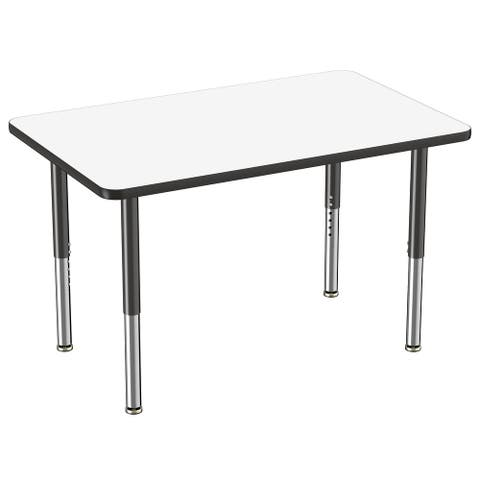 "30"" x 48"" Rectangle Dry-Erase Table with Adjustable Mobile Super Legs"