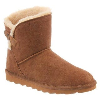 Bearpaw Women's Margaery Short Boot Hickory II Cow Suede