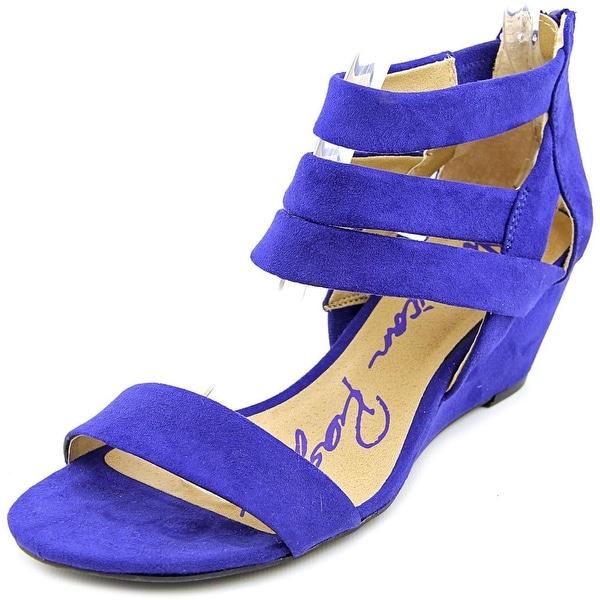 American Rag Acasen Women Open Toe Synthetic Blue Wedge Sandal