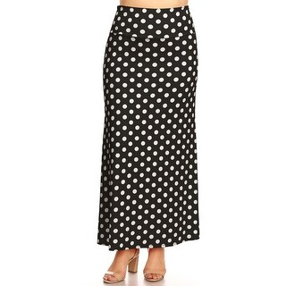 Link to Women's Polka Dot Plus Size Loose Fit Maxi Skirt Similar Items in Women's Plus-Size Clothing