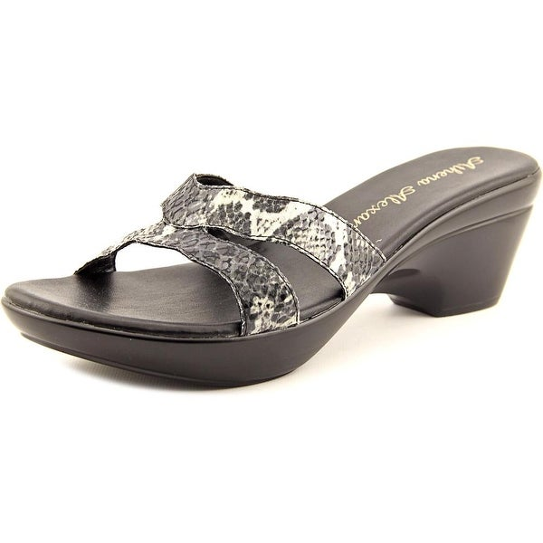 Athena Alexander Linden Women Open Toe Synthetic Black Platform Sandal