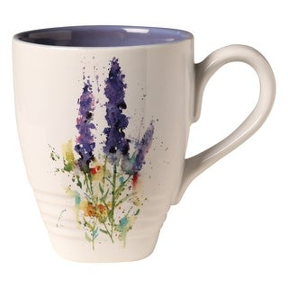 Demdaco Dean Crouser Artwork Flowering Lavender Coffee Mug Tea Mug - 16 oz. Ceramic - 3 in. x 4.25 in. x 3.75 in.