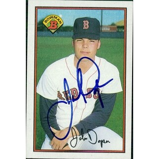 Signed Dopson John Boston Red Sox 1989 Bowman Baseball Card autographed