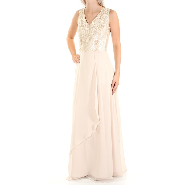 Shop Womens Beige Sleeveless Full Length Sheath Wedding Dress Size  4 - On  Sale - Free Shipping Today - Overstock.com - 22300658 734442808481