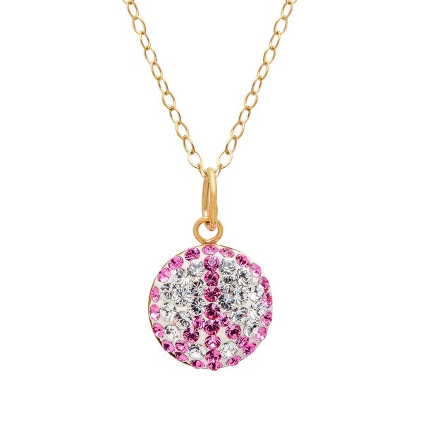 Crystaluxe Peace Pendant with Swarovski elements Crystals in 14K Gold-Plated Sterling Silver