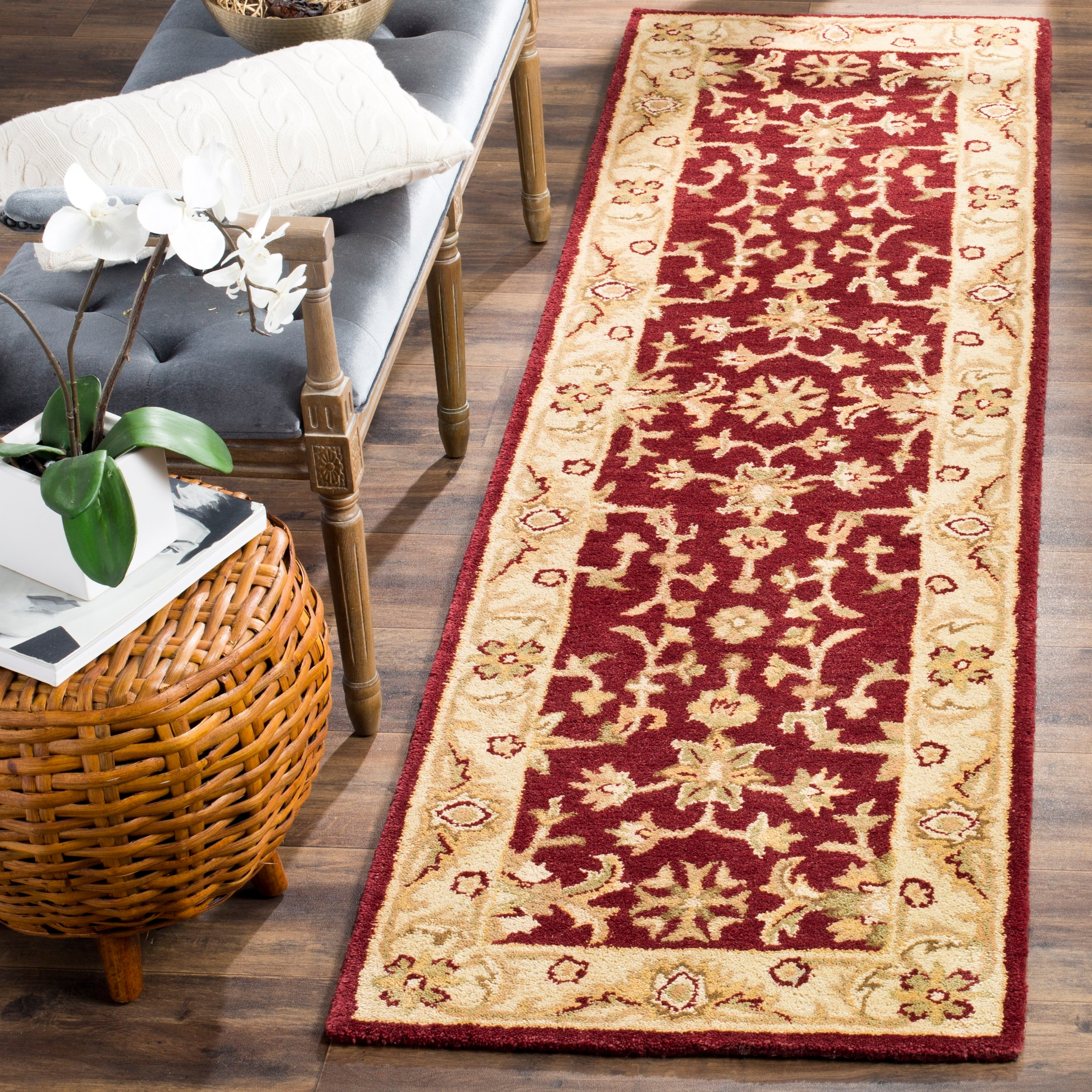 Safavieh-Handmade-Antiquity-Vena-Traditional-Oriental-Wool thumbnail 15