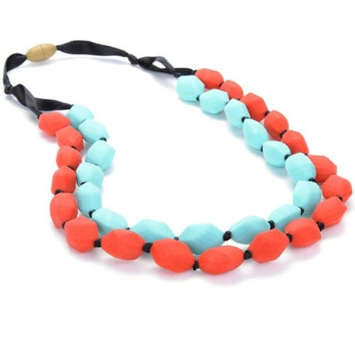 Chewbeads Astor Teething Necklace - Cherry Red Astor Teething Necklace