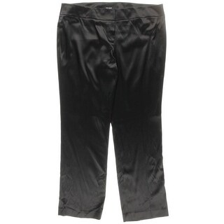 Nine West Womens Satin Flat Front Pants