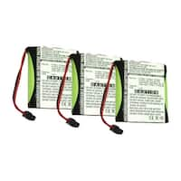 Replacement Battery For Panasonic KX-T210B Cordless Phones - P504 (700mAh, 3.6v, NiMH) - 3 Pack
