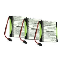 Replacement Battery For Panasonic KX-T800 Cordless Phones - P504 (700mAh, 3.6v, NiMH) - 3 Pack