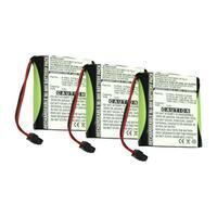 Replacement Battery For Panasonic KX-TG200C Cordless Phones - P504 (700mAh, 3.6v, NiMH) - 3 Pack