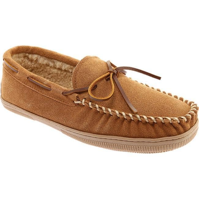 8M Suede Chocolate Max Moccasin Slippers NEW Portland Boot Company Men/'s Sz
