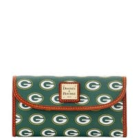 Dooney & Bourke NFL Green Bay Packers Continental Clutch Wallet (Introduced by Dooney & Bourke at $128 in Aug 2016)