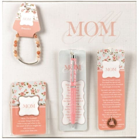 "Pale Pink and White ""MOM"" Printed Display Board with Assortments"
