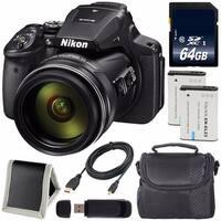 Nikon COOLPIX P900 Digital Camera (Certified Refurbished) + EN-EL23 Lithium Ion Battery + 64GB Card + Carrying Case Bundle