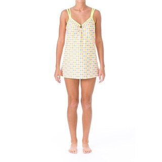 Mainstream Womens Printed V-Neck Swimdress