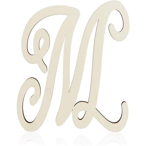 Unfinished Wood Monogram Letter M (13 in.)