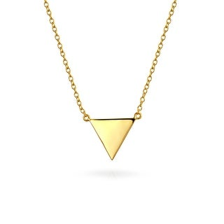 Bling Jewelry Gold Plated .925 Silver Geometric Triangle Necklace 16 Inches