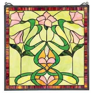 Design Toscano Nouveau Lily Stained Glass Window