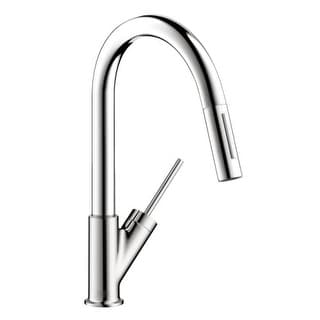 Axor 10824 Starck Pull-Down Kitchen Faucet with High-Arc Spout, Magnetic Docking & Toggle Spray Diverter - Includes Lifetime