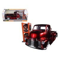 1952 Chevrolet COE Pickup Truck Red Just Trucks with Extra Wheels 1/24 Diecast Model by Jada