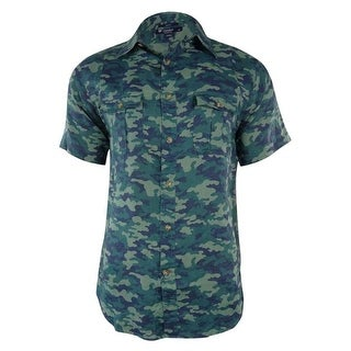 Cremieux Collection Men's Surplus Slim Fit Camouflage Shirt