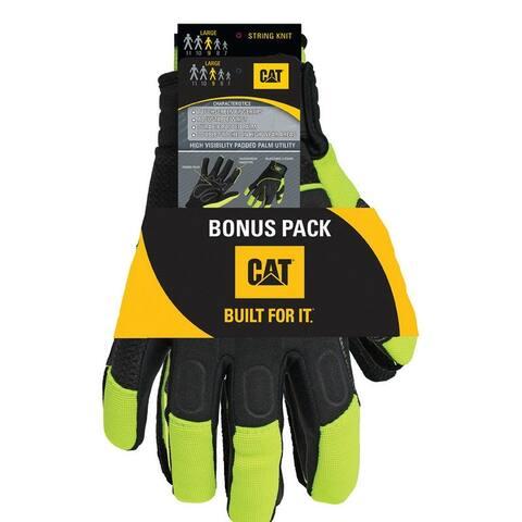 Cat CAT2224X/7418X Men's XL Mechanic's Glove, High-Vis Green