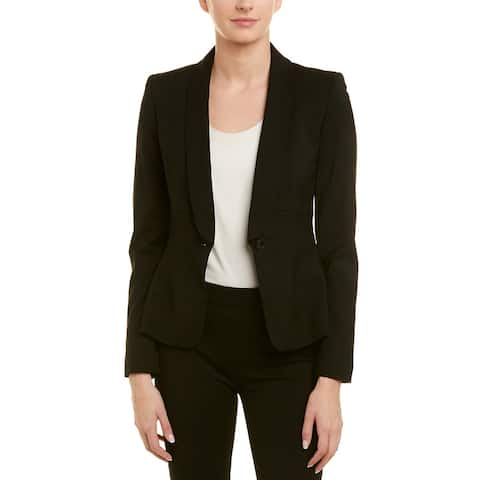 Karen Millen Womens Wool-Blend Blazer, Uk 16 / Us 12, Black