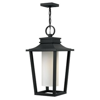 "Hinkley Lighting 1742-LED Sullivan Single Light 11-3/4"" Wide Integrated LED Outdoor Pendant with Etched Opal Glass Shade"