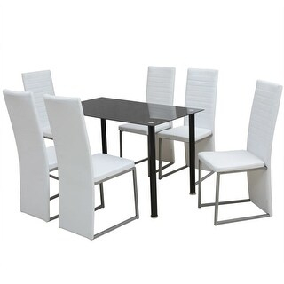 vidaXL Seven Piece Dining Set White