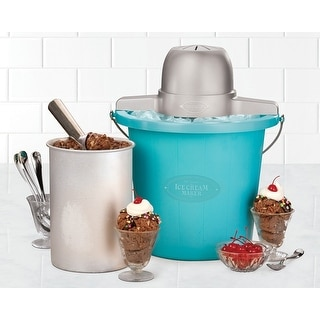 Nostalgia Electrics ICMP-400BLUE 4 Quart Ice Cream Maker - Blue