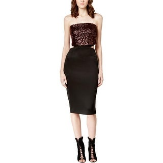 Rachel Rachel Roy Womens Clubwear Dress Sequined Strapless