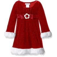 Bonnie Baby Girls 0-9 Months Glitter Santa Emma Dress