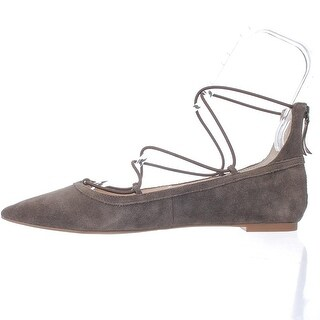 INC International Concepts Womens Zachh Suede Closed Toe Ankle Strap Ballet F...