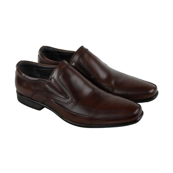 Kenneth Cole New York Extra Official Mens Brown Casual Dress Loafers Shoes