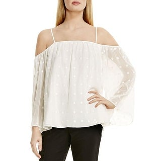 Vince Camuto Womens Blouse Georgette Embroidered
