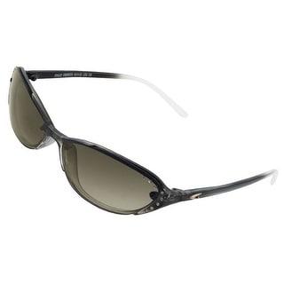 Rhinestone Detail Black Clear Full Frame Sunglasses for Ladies