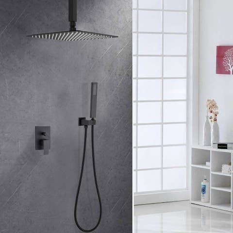 10 Inch Shower Head Ceiling Mount Complete Shower System with Rough-in Valve