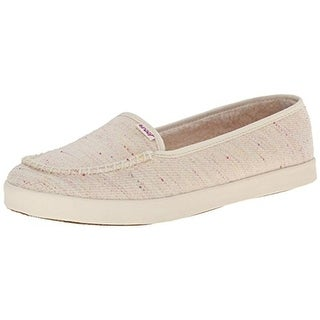 Reef Womens Salty Island Fur Moc Toe Slip On Casual Shoes