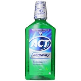 ACT Anticavity Fluoride Rinse, Mint, 33.8 oz