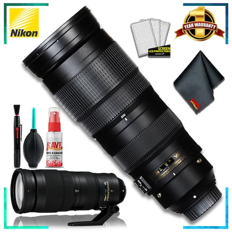 Nikon AF-S NIKKOR 200-500mm f/5.6E ED VR Camera Lens (Intl Model) - Bundle