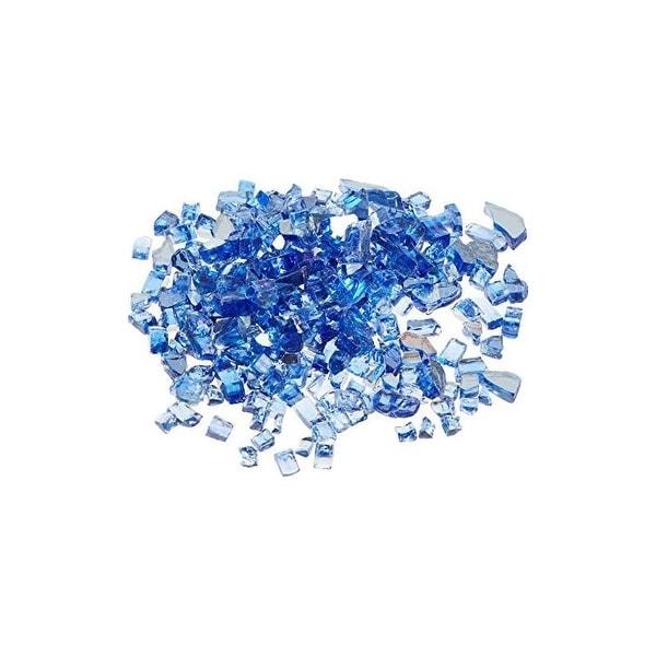 AZ Patio Heaters RFGLASS-2-CBLT Reflective Fire Pit Fire Glass in Cobalt, 20lbs - cobalt