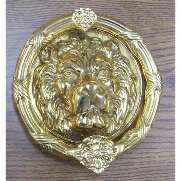 BRASS Accents A07 K5100 609 Leo Lion Door Knocker 8 38   Antique Brass