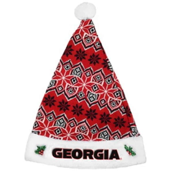 02909630f71 Shop Georgia Bulldogs Knit Santa Hat - 2015 - Free Shipping On Orders Over   45 - Overstock - 23870637