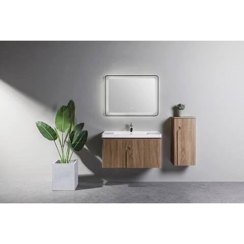 Koozzo Wall-Mounted Single Bathroom Vanity Set