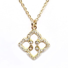 Julieta Jewelry Clover CZ Charm Necklace
